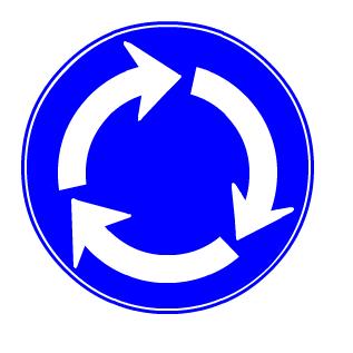 環状の交差点における右回り通行