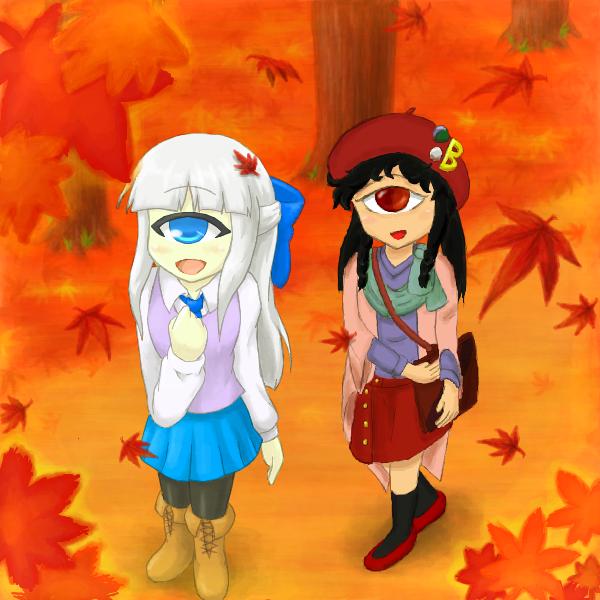 秋の散歩(ペア:にゅう麺さん)
