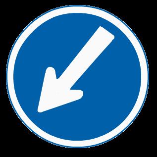 指定方向外進行禁止