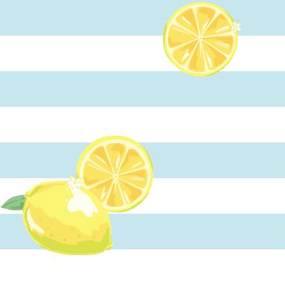 横縞(水色×白)&レモン/りぃぜさん(生主)記事使用