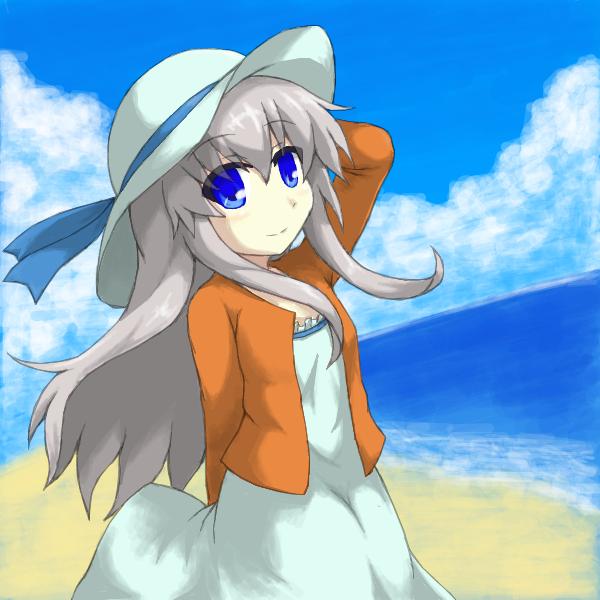 白ワンピガール