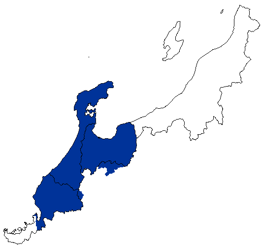 北陸電力の営業地域