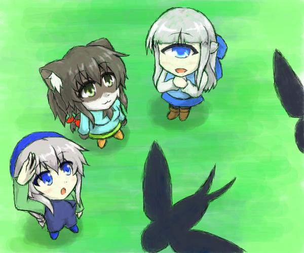 軒下の来訪者たち