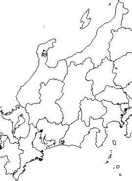 第二次府県統合後の中部