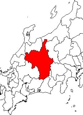 筑摩県を地図に色付け