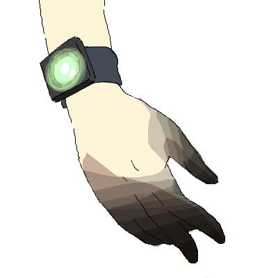 ラッキービーストと毛ちゃんの手