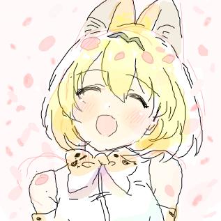 桜とサーバルちゃん