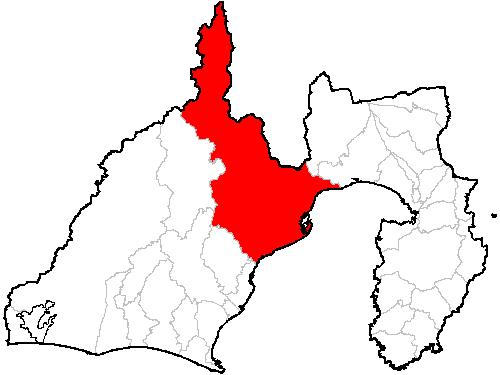 静岡市の位置