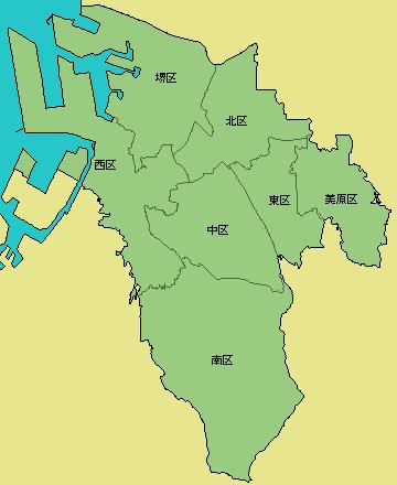 堺市の地図