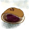 二つ折り銅鑼焼き