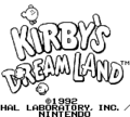 KIRBY'S DREAM LAND タイトル画面