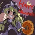 ハロウィンの魔女コスプレ魔理沙