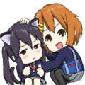 猫っぽい女子高生と女子高生