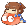 アルルと赤ぷよ