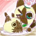 ケーキ作るニャ